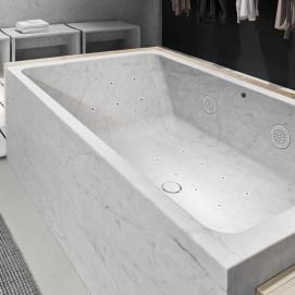 HYDROWELL Neutra ванна из натурального камня (мрамора) с гидромассажем, размер 170-200 см
