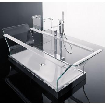 прозрачная ванна из стекла i Cristalli Novellini