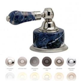 Смеситель с ручками из камня синий содалит Bleu Sodalite