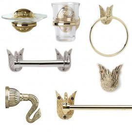 Аксессуары для ванной комнаты серии лебедь Swan Phylrich