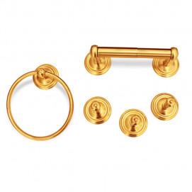 Аксессуары для ванной/душа в неоклассическом стиле матовое золото комплект в наличии