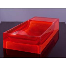 Regia SMALL цветная прямоугольная раковина из стекла