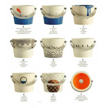 8801 Scarabeo Bucket 30 см накладная раковина с декором