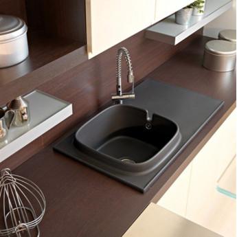 Up Scarabeo керамическая дизайнерская мойка для кухни с интегрированной столешницей