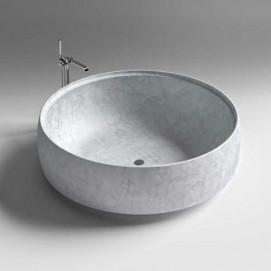 GRAL SIGN Ванна отдельностоящая круглая из натурального камня 176 см