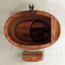 Офуро сидячая ванна из дерева в японском стиле