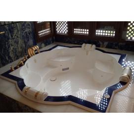 Zellige Watergame элитная встраиваемая ванна - звезда из минерального литья