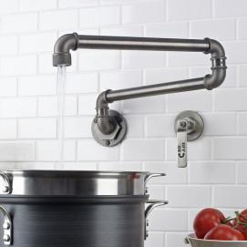 Elan Vital Watermark Pot Filler кран над плитой в стиле лофт хром золото никель бронза латунь