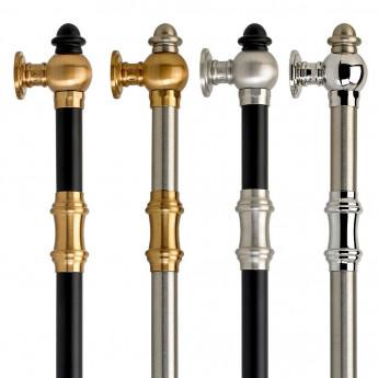 Ручки для кухонной мебели, холодильника, поручни для ванной в классическом стиле (хром, никель, золото, бронза)