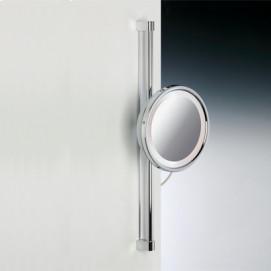 Зеркало косметическое увеличительное подвесное с подсветкой (лампа) на штанге Windisch