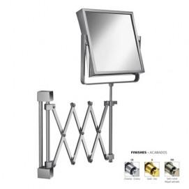 Зеркало косметическое подвесное в современном стиле без подсветки двух стороннее на держателе гармошке Windisch