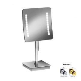 Зеркало настольное косметическое квадратное в современном стиле со светодиодной подсветкой WINDISH