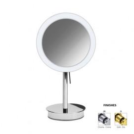 Зеркало настольное косметическое круглое в современном стиле со светодиодной подсветкой WINDISH