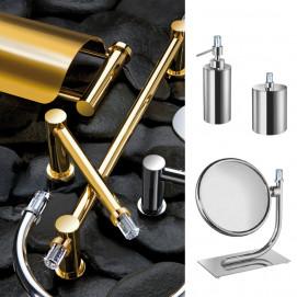 Concept Line Windisch аксессуары для ванной комнаты в современном стиле со сваровски хром золото