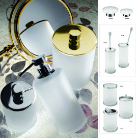 Аксессуары для ванной в современном стиле с матовым стеклом Frozen Crystal Glass Windisch