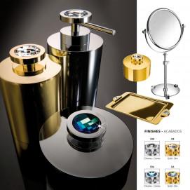 Moonlight round Windisch аксессуары для ванной хром или золото с кристаллами Swarovski
