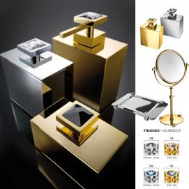 Moonlight Square Windisch прямоугольные аксессуары для ванной хром или золото с кристаллами Swarovski