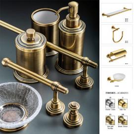 Scala Windisch аксессуары классические для ванной комнаты с из матового стекла (или прозрачного кракелюрами) хром золото бронза