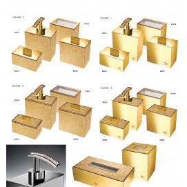 Starlight square Windisch аксессуары с кристаллами Swarovski для ванной душа прямоугольной формы хром золото