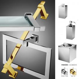 BOX METAL Windisch аксессуары для ванной комнаты в современном стиле настенный монтаж хром, золото
