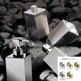 BOX METAL Windisch аксессуары для ванной комнаты квадратной формы в современном стиле хром, золото, бронза, никель