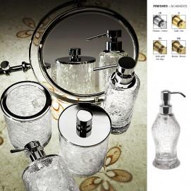 Cracked Glass Windisch аксессуары для ванной комнаты с колбой из стекла с кракелюрами хром золото бронза в наличии