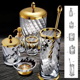 SPIRAL Windisch аксессуары для ванной комнаты с колбой из спирального стекла