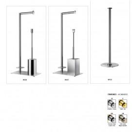 Windisch Стойка напольная держатель туалетной бумаги и ершик, хром, золото, бронза
