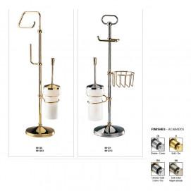 Windisch Стойка напольная в классическом стиле, держатель туалетной бумаги, ершик, полотенце, хром, золото, бронза