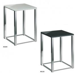 Табурет для ванной комнаты сиденье белый или черный акрил, ножки хром Windisch