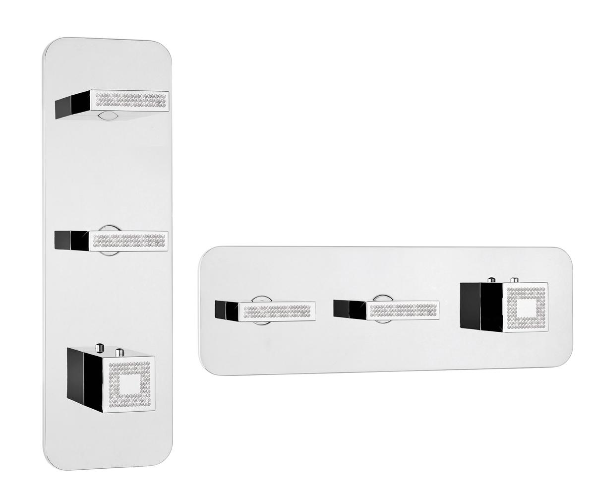 Z033204-050 Crystal Line Bossini Rectangular 2/3 Outlets