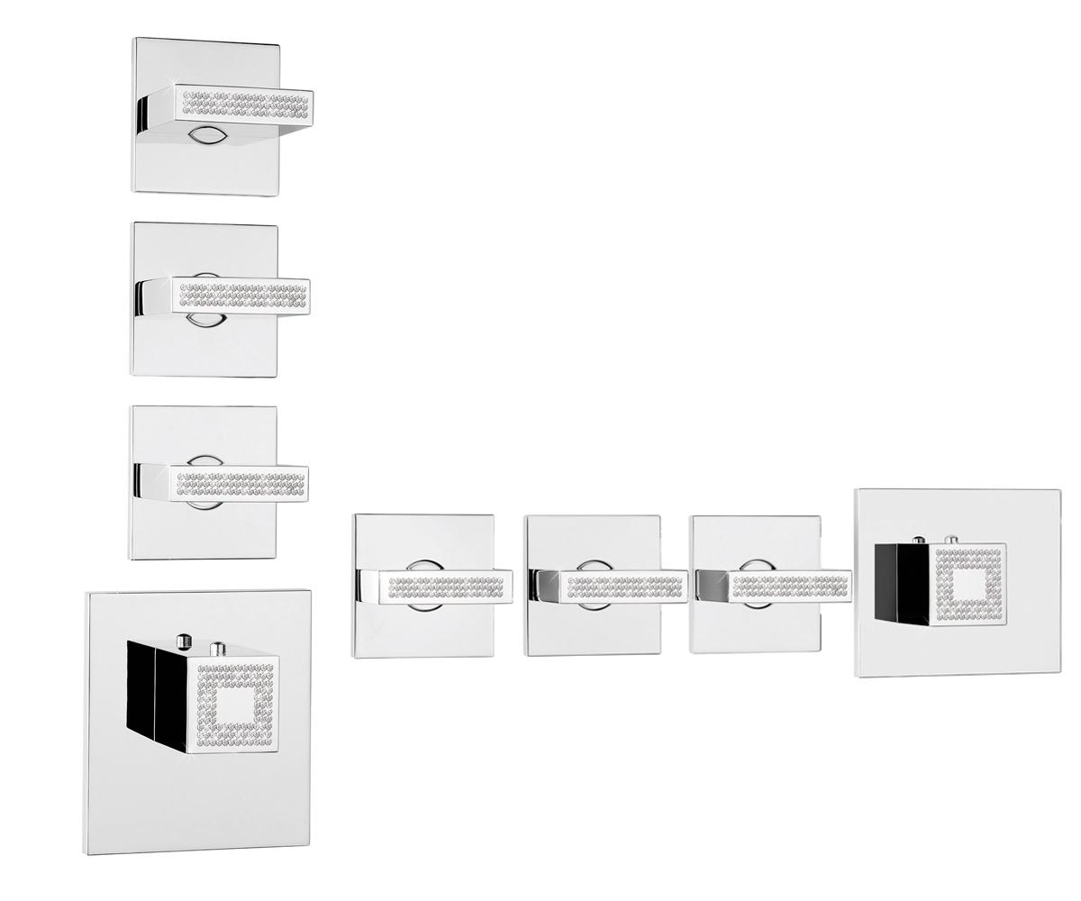 Z033205-050 Crystal Line Bossini Rectangular 3 Outlets